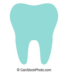 Tooth icon isolated on background. Modern flat pictogram, business, marketing, internet concept. Trendy Simple vector symbol for web site design or button to mobile app. Logo illustration.