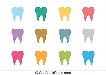 Tooth Icon logo set