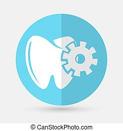 Tooth icon on a white background
