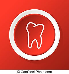 Tooth icon on red
