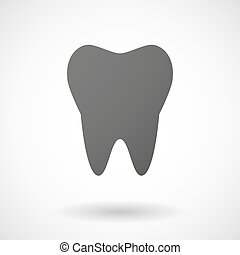 tooth icon on white background