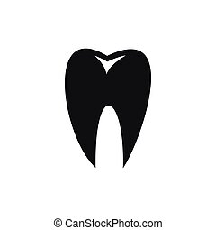 Tooth icon, simple style
