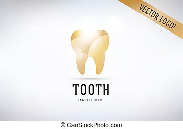 Tooth Icon vector logo template. Health, medical or doctor...