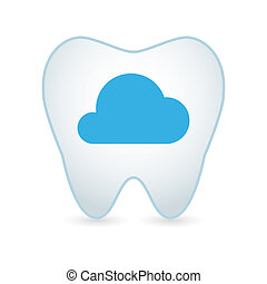 Tooth icon with a cloud
