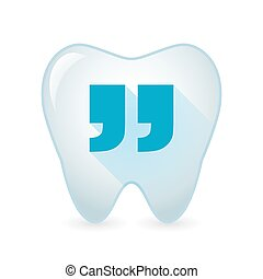 Tooth icon with quotes