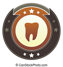 Tooth imperial button