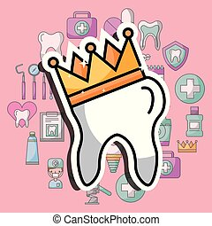 tooth in crown dental care and treatment