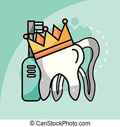 tooth in crown electric toothbrush