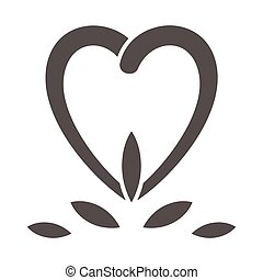 Tooth in heart shape solid icon, International dentist day concept, dental heart sign on white background, tooth and heart logo in glyph style for mobile and web design. Vector graphics.