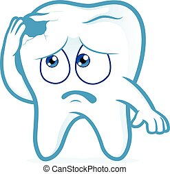 Tooth in pain with cavity