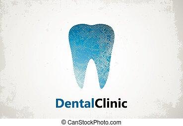 Tooth logo. Dental clinic design. Dental care