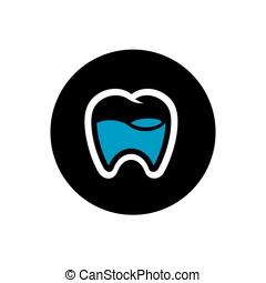 Tooth Logo Design, Dental Icon, Vector Illustration