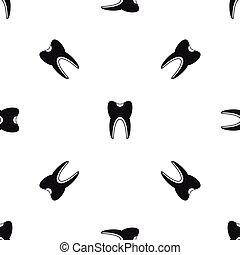 Tooth pattern seamless black