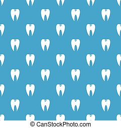 Tooth pattern seamless blue