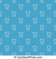 Tooth pattern vector seamless blue