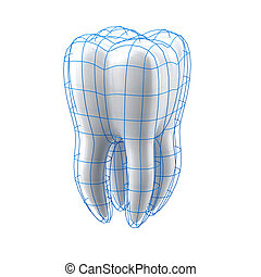Tooth protection - Tooth protection isolated on a white...