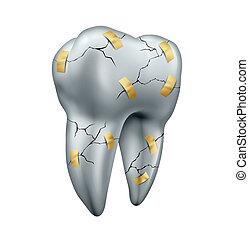 Tooth Repair - Tooth repair dental concept as a health care...