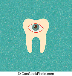 tooth retro poster