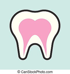 tooth simple filled outline icon, medical set