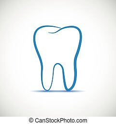 tooth simple icon on a white background