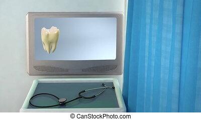 tooth step be white closeup