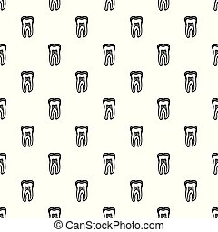 Tooth structure icon, simple black style