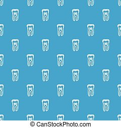 Tooth structure pattern vector seamless blue