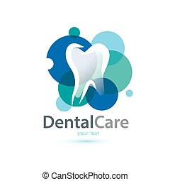 tooth stylized symbol, logo or emblem template