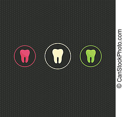 Tooth symbol background - Tooth symbols design, beautiful...