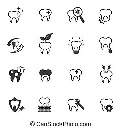 Tooth, Teeth icon set