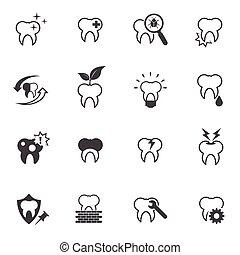 Tooth, Teeth icon set