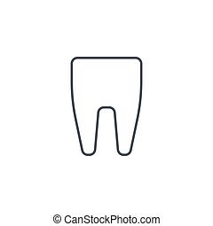 tooth thin line icon. Linear vector symbol