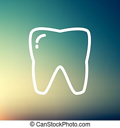 Tooth thin line icon