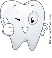 Illustration of a Tooth Giving a Thumbs Up