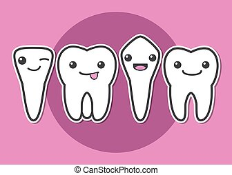 Tooth types illustration - Tooth types. Kinds of teeth....