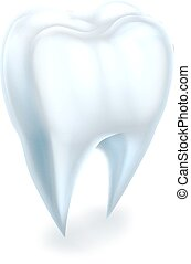 Tooth - A dental medical illustration of a tooth
