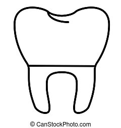 tooth vector Icon. Isolated on white. Flat outline design. Eps 10