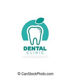 Tooth vector logo for dental clinic