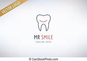 Tooth vector logo template. Health, medical and dentist...