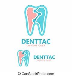 Tooth vector logo template.