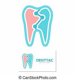 Tooth vector logo template