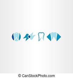 tooth vector set icon logo collection symbol