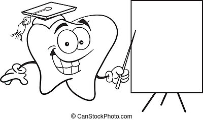 Tooth with a sign