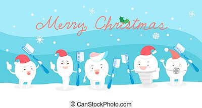 tooth with christmas