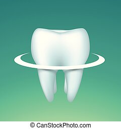tooth with circle on bright