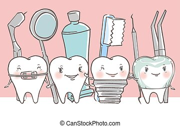 tooth with dental concept