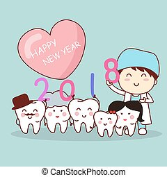 tooth with new year