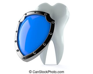 Tooth with protection shield