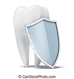 Tooth with shield