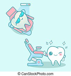 tooth with whitening and bleaching - cartoon tooth with...